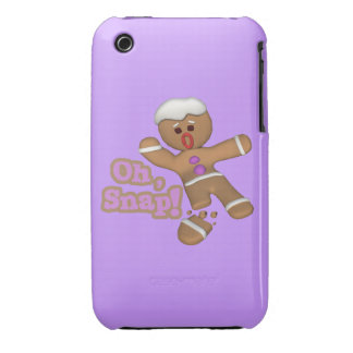 cute funny oh, snap gingerbread man cookie iPhone 3 cover
