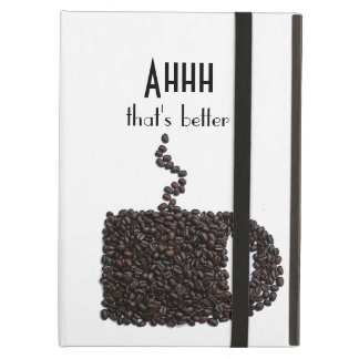 Cute Funny Pattern of Coffee Java Chic Cup Mug Case For iPad Air