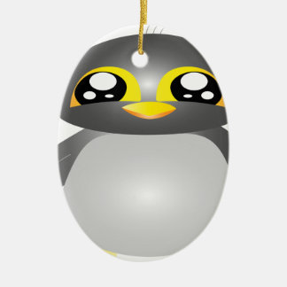 cute funny penguin animal ceramic ornament