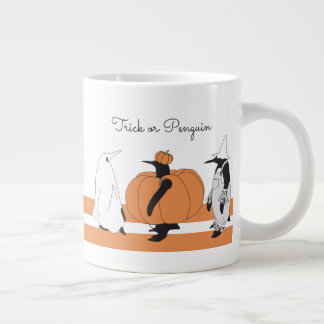 Cute Funny Penguin Animal Halloween Personalized Giant Coffee Mug