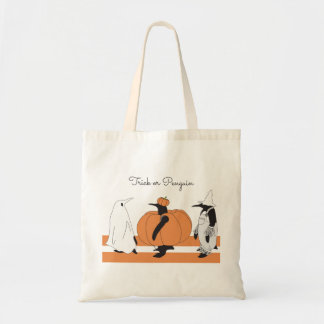 Cute Funny Penguin Animal Halloween Personalized Tote Bag