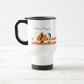 Cute Funny Penguin Animal Halloween Personalized Travel Mug