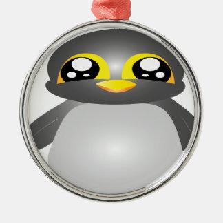 cute funny penguin animal metal ornament