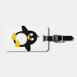 Cute Funny Penguin Luggage Tag