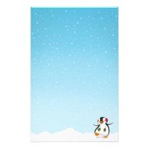 Cute Funny Penguin Winter - Stationery Letterhead