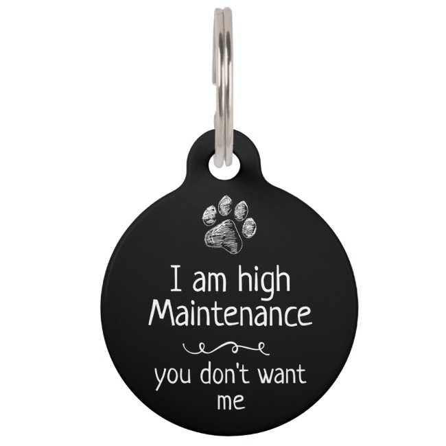 Cute Funny Pet Dog Name Tags - Customized Unique