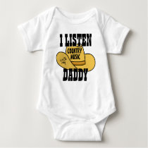 Cute Funny Phrase | I Listen To Country Music Baby Bodysuit