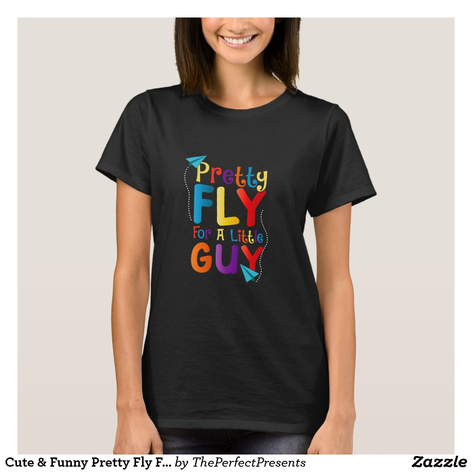 Cute & Funny Pretty Fly For a Little Guy T-Shirt - Best Selling Long-Sleeve Street Fashion Shirt Designs