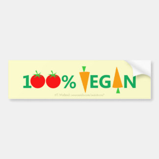 Cute Funny Pro Vegan Clever Witty Bumper Sticker