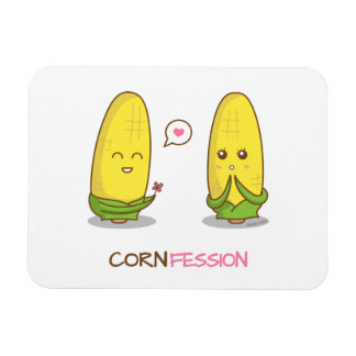 Cute Funny Punny Corn Love Confession Magnet