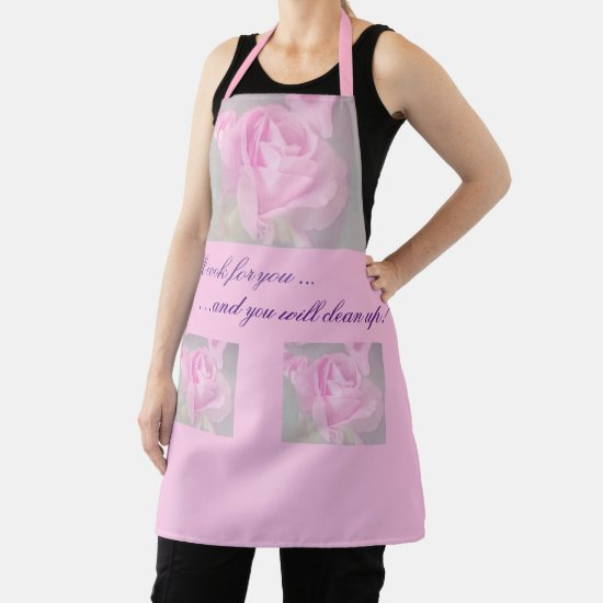 Cute Funny Quote, Beautiful Rose Birthday  Apron