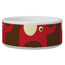 Cute Funny Red Elephants Stacked on Top of Each Ot Bowl