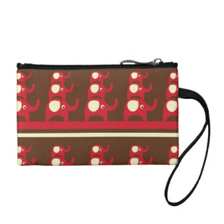 Cute Funny Red Elephants Stacked on Top of Each Ot Change Purse