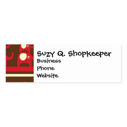 Cute Funny Red Elephants Stacked on Top of Each Ot Mini Business Card