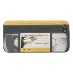 Cute Funny Retro Video VHS Cassette iPhone 5 Case at Zazzle