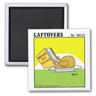 Cute Funny Roast Turkey Cartoon Kitchen 2 Inch Square Magnet