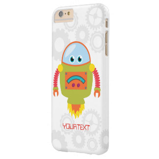 Cute Funny Robot Sci Fi Custom Barely There iPhone 6 Plus Case