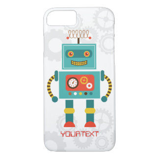 Cute Funny Robot Science Fiction iPhone 7 Case