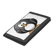 Cute Funny Round Penguin Trifold Wallet