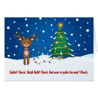 Cute, Funny Rudolph Christmas Card