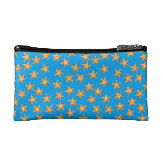 Cute funny sea cartoon  star pattern cosmetic bag