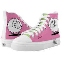 Cute Funny Sheep High-Top Sneakers