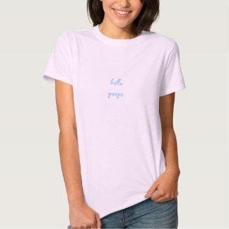Cute Funny Shy Girl Hello Peeps G'bye Peeps Tshirt