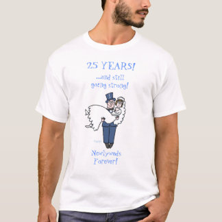 Cute Funny Silver Anniversary Shirt