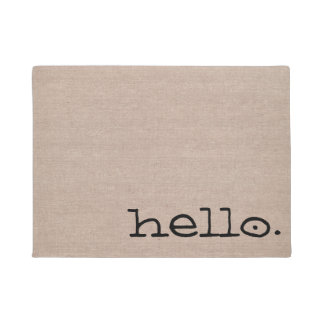 Cute funny simple modern hello hi quote saying doormat
