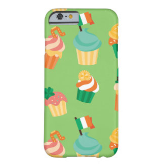 Cute funny St patrick green orange cupcake pattern Barely There iPhone 6 Case