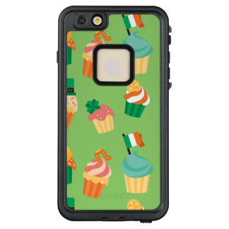 Cute funny St patrick green orange cupcake pattern LifeProof® FRĒ® iPhone 6/6s Plus Case