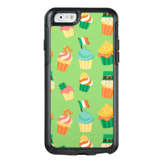 Cute funny St patrick green orange cupcake pattern OtterBox iPhone 6/6s Case