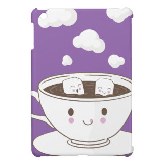 Cute funny sugar cubes bathing in coffee cup case for the iPad mini