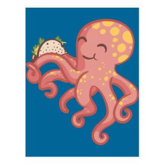 Cute Funny Tako Taco Octopus Postcard
