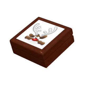 Cute Funny The Red Nosed Reindeer Keepsake Box