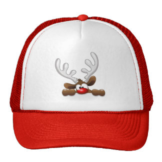 Cute Funny The Red Nosed Reindeer Trucker Hat