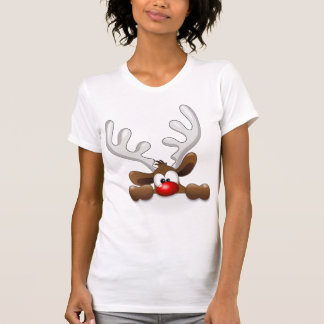 Cute Funny The Red Nosed Reindeer Tee Shirts