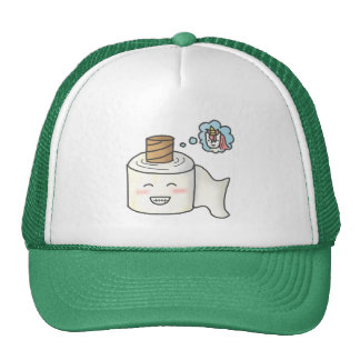 Cute Funny Toilet Paper Dreaming Unicorn Trucker Hat