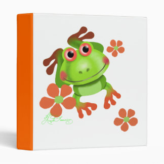 Cute Funny Tree Frog 3 Ring Binder