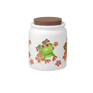 Cute Funny Tree Frog Candy Dishes