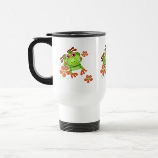 Cute Funny Tree Frog Travel Mug