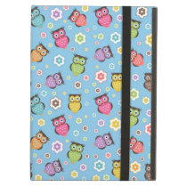 Cute funny trendy owls and flowers pattern iPad air cases