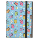 Cute funny trendy owls and flowers pattern iPad cases
