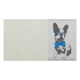 Cute funny trendy vintage animal French bulldog Double-Sided Standard Business Cards (Pack Of 100)