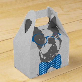 Cute funny trendy vintage animal French bulldog Party Favor Boxes