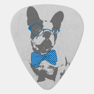 Cute funny trendy vintage animal French bulldog Guitar Pick