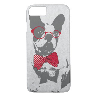 Cute funny trendy vintage animal French bulldog iPhone 7 Case