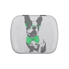 Cute funny trendy vintage animal French bulldog Jelly Belly Candy Tin at Zazzle