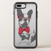 Cute funny trendy vintage animal French bulldog OtterBox Symmetry iPhone 7 Plus Case
