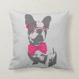 Cute funny trendy vintage animal French bulldog Pillows
